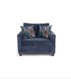 Oxyl Blue Accent Chair