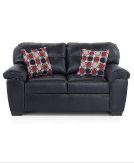 Black Modern Loveseat