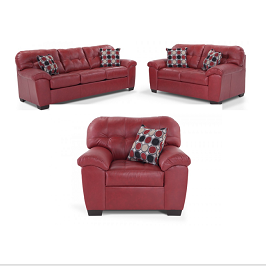 Red Modern 6 Seater Livingroom Set