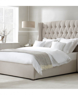Angelina Tufted 4.5 by 6 Bed with Mattress
