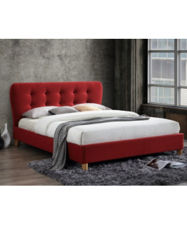 Anna 4.5 By 6 Bed - Red with Mattress