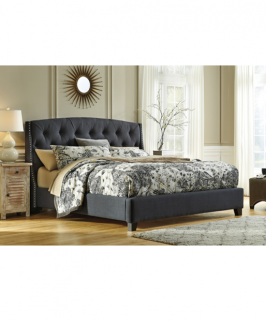 Antonio Ribbed 6 BY 6 Tufted BED- Grey