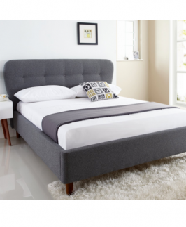 Anna 4.5 By 6 Bed - Grey with Mattress