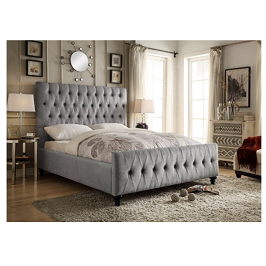 Bettina 6 by 6 Tufted Bed with Mattress
