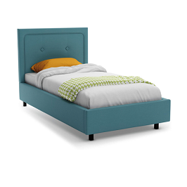 Enzo 3.5 BY 6 Kid Bed - Blue with Mattress