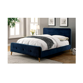 Rachele 4.5 by 6 Bed- Blue with Mattress