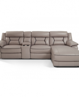 Opulent Mini-Sectional with Cup Holder