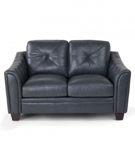 HAPOTI BLACK TUFTED LOVESEAT- Black