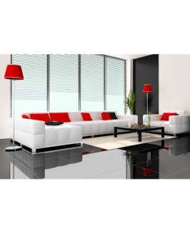 WHITE LEISURE SECTIONAL SET