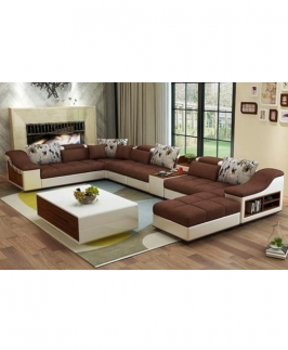BRYAN LIVINGROOM SET (BROWN)