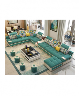 HARRIS SECTIONAL LIVINGROOM SET (Green)